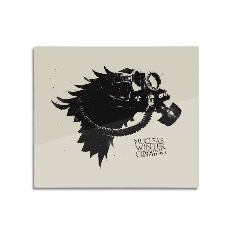 Fallout game of throne Home Mounted Aluminum Print by Propaganda Department