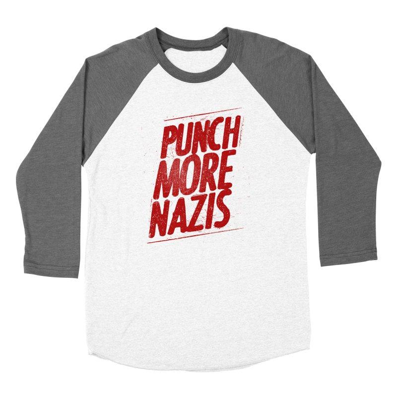 Punch more nazis Women's Longsleeve T-Shirt by Propaganda Department