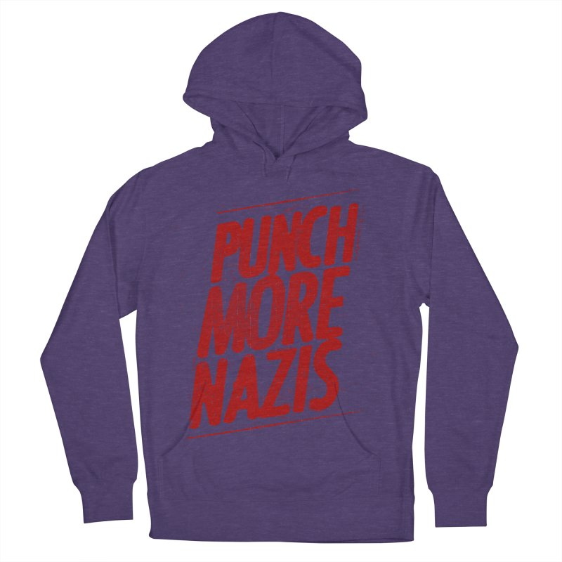 Punch more nazis Women's French Terry Pullover Hoody by Propaganda Department