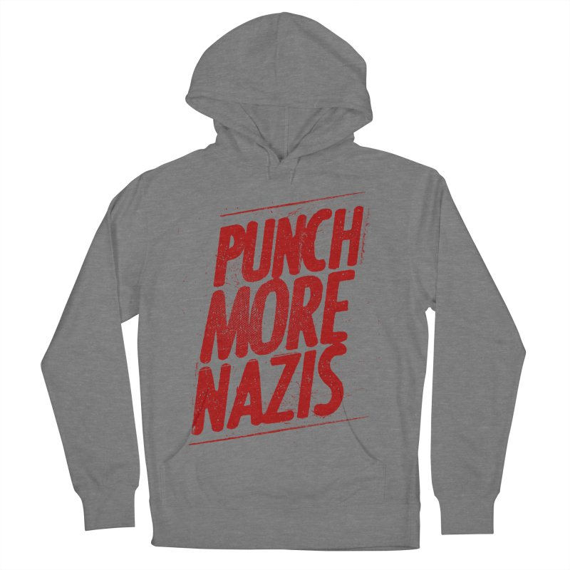 Punch more nazis Men's French Terry Pullover Hoody by Propaganda Department