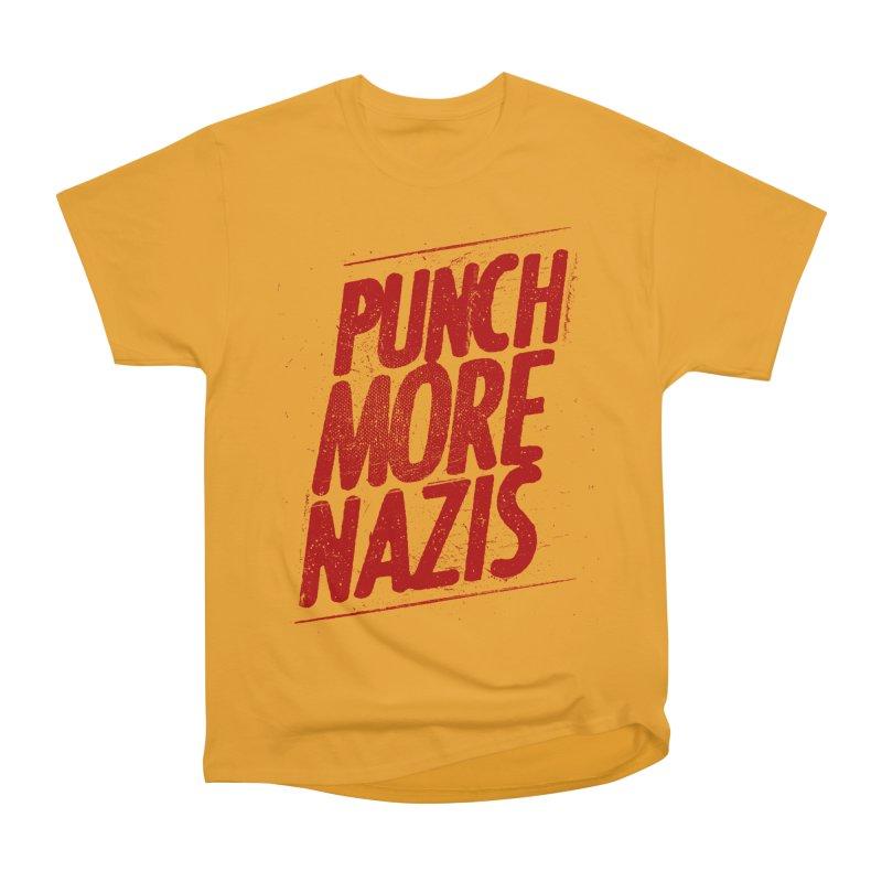 Punch more nazis Women's Heavyweight Unisex T-Shirt by Propaganda Department