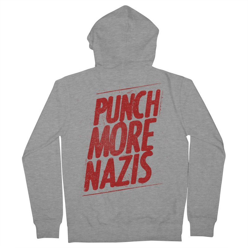 Punch more nazis Women's French Terry Zip-Up Hoody by Propaganda Department