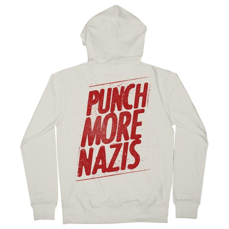 Punch more nazis Women's French Terry Zip-Up Hoody by Propaganda Department