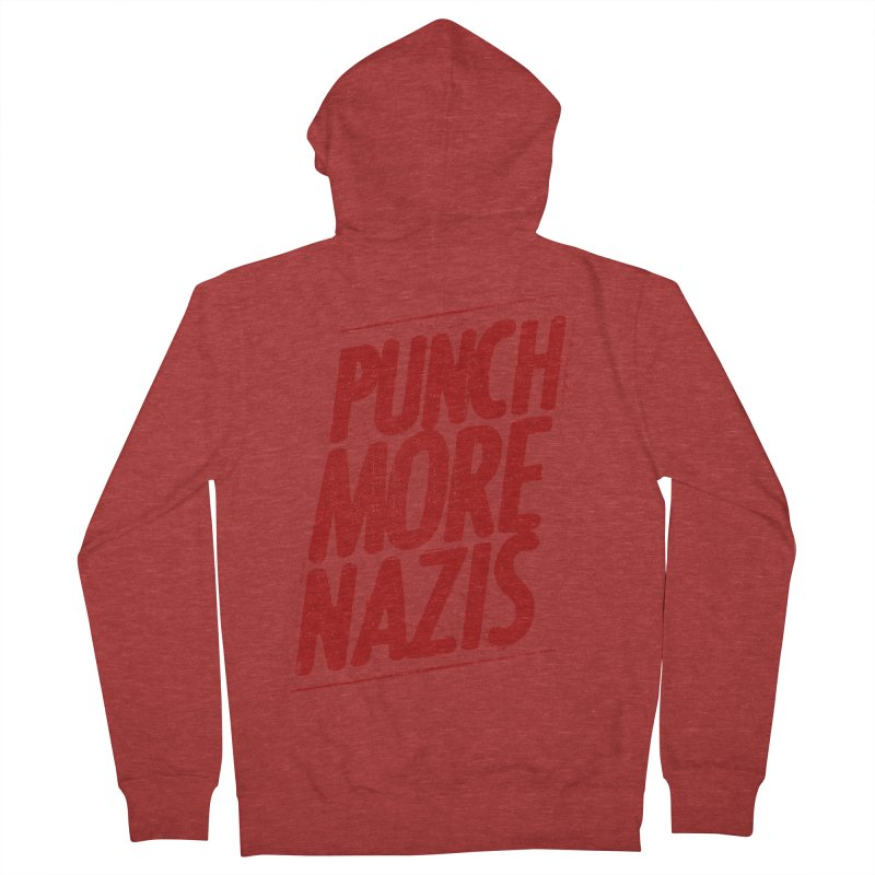 Punch more nazis Men's French Terry Zip-Up Hoody by Propaganda Department