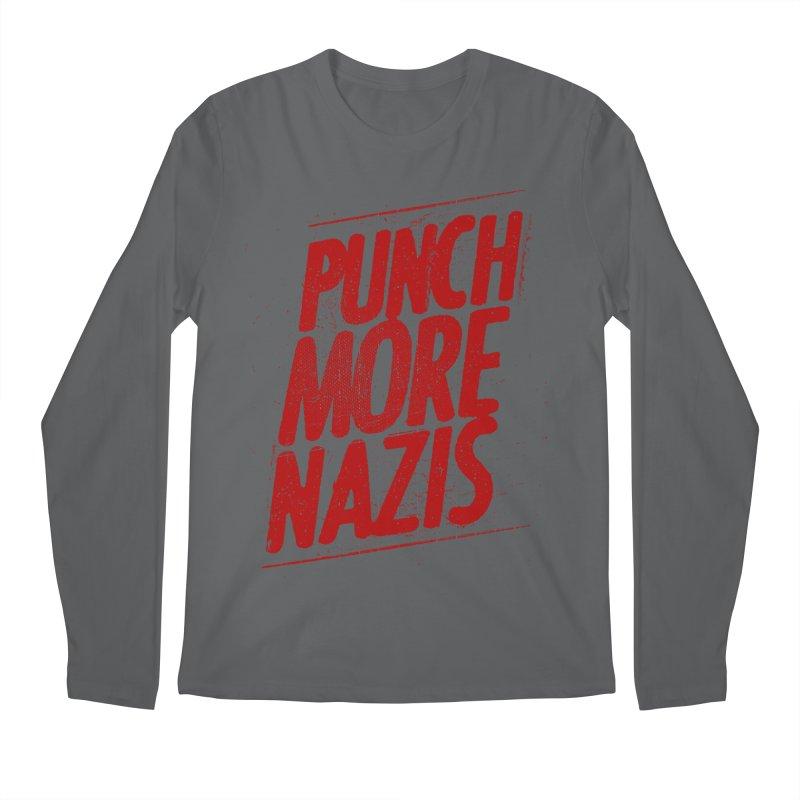Punch more nazis Men's Longsleeve T-Shirt by Propaganda Department