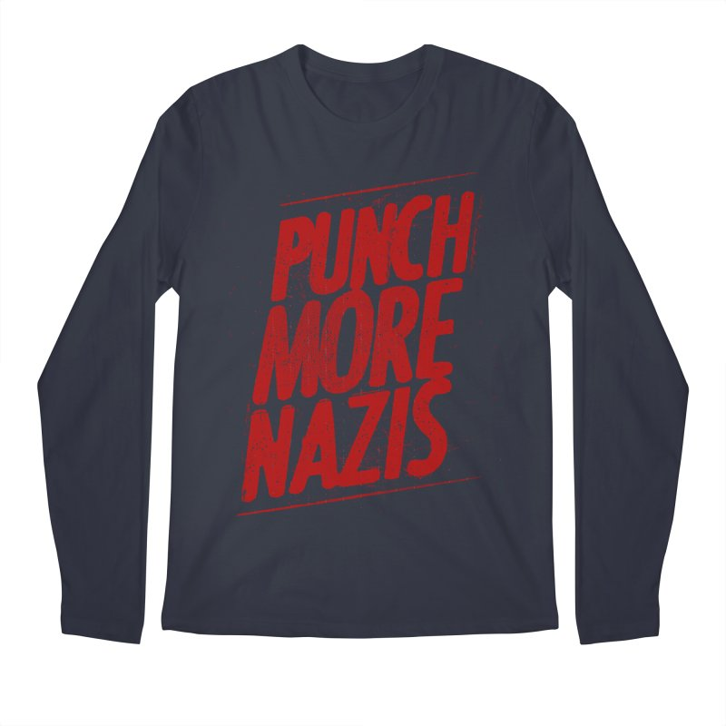 Punch more nazis Men's Regular Longsleeve T-Shirt by Propaganda Department