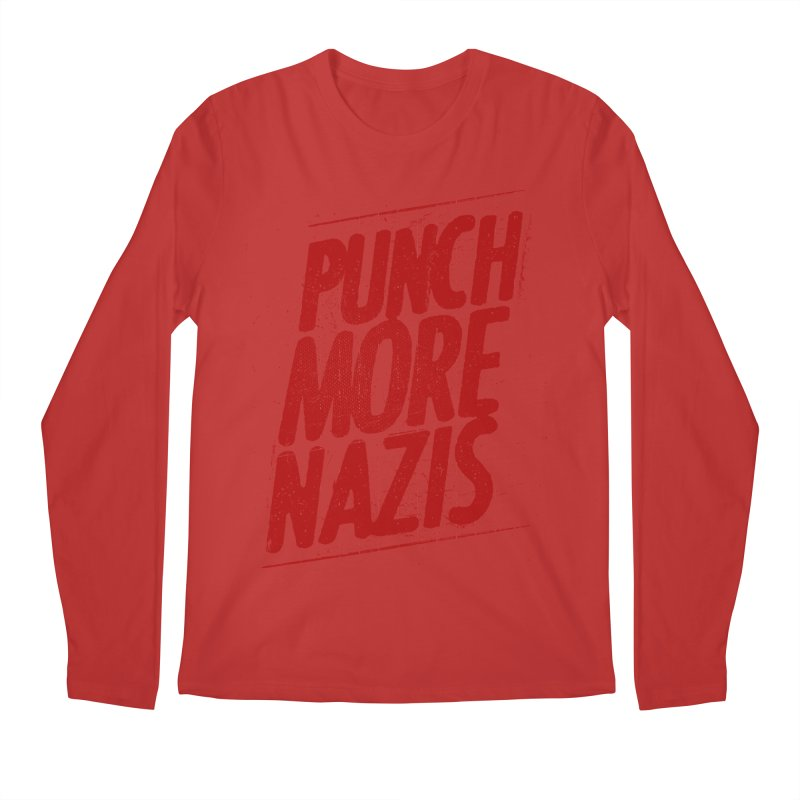 Punch more nazis Men's Regular Longsleeve T-Shirt by Propaganda Department