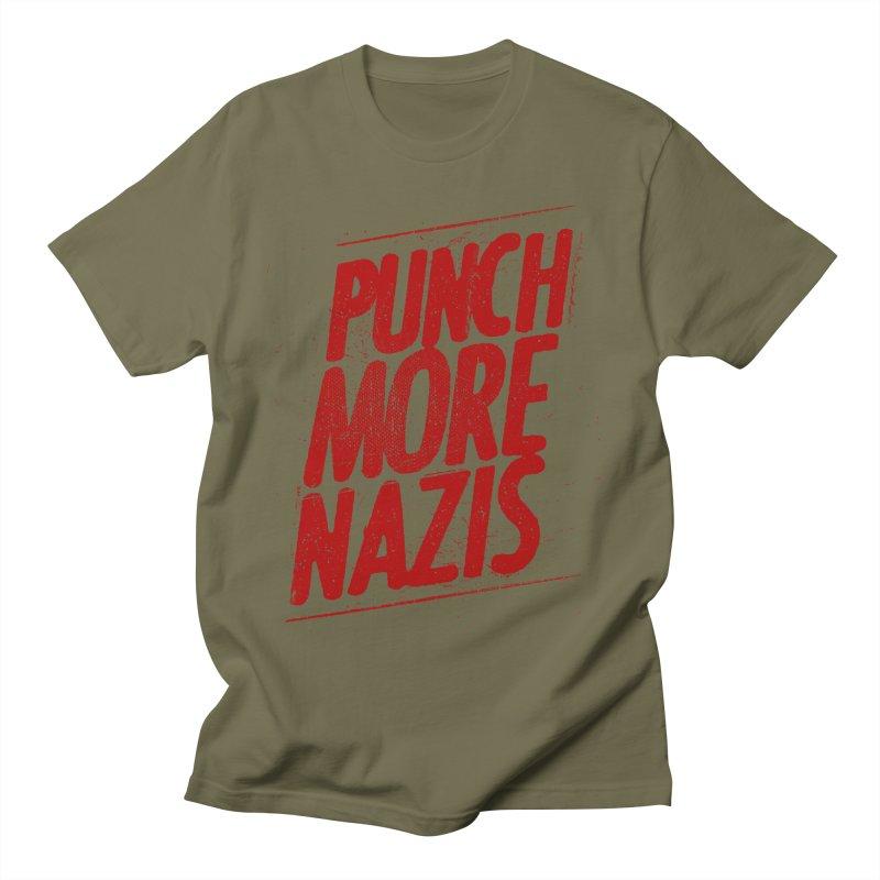 Punch more nazis Men's T-Shirt by Propaganda Department