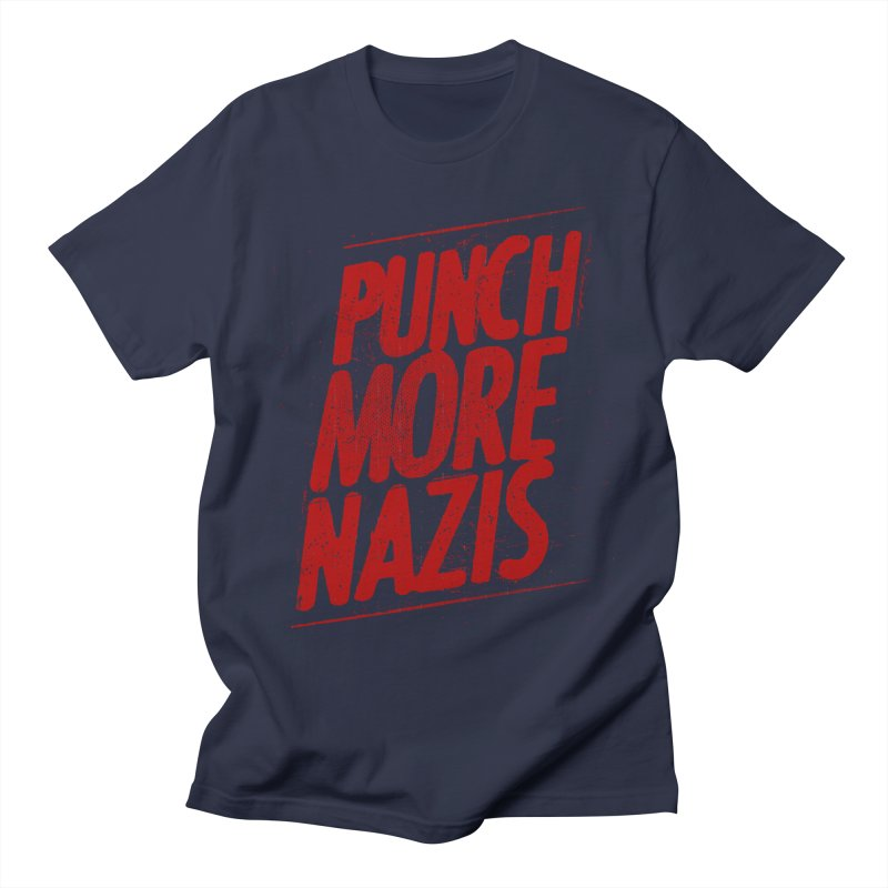 Punch more nazis Women's Regular Unisex T-Shirt by Propaganda Department