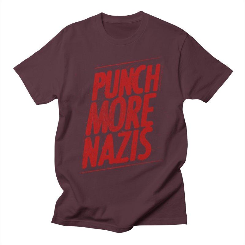 Punch more nazis Men's Regular T-Shirt by Propaganda Department