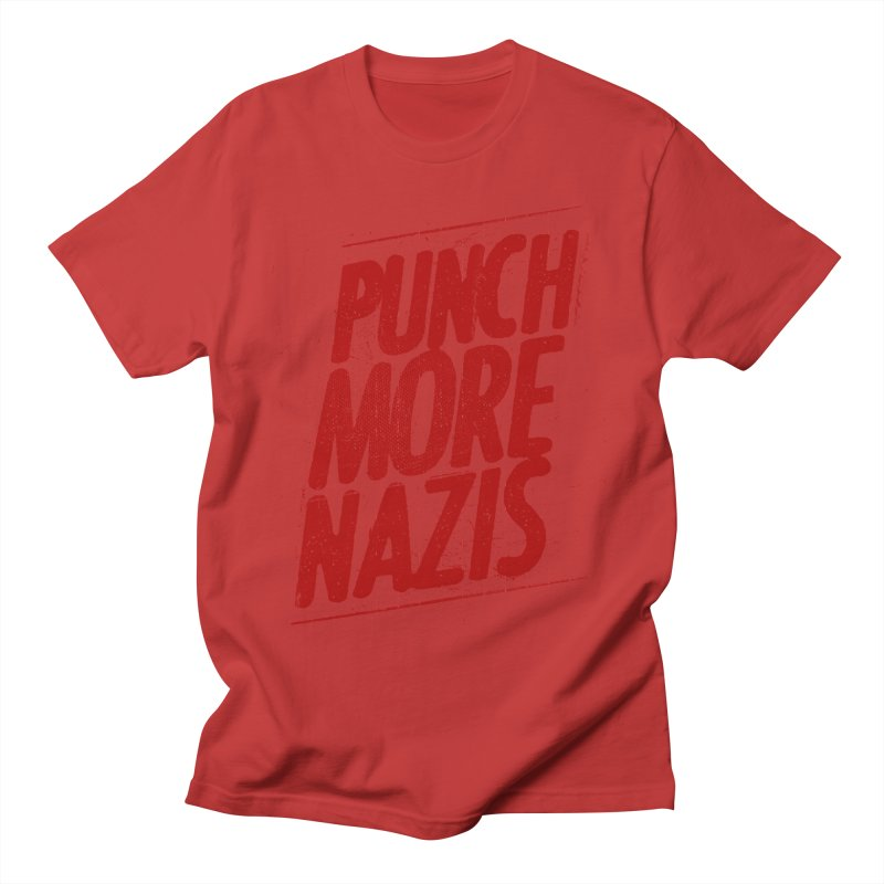 Punch more nazis Men's Regular T-Shirt by Propaganda Department
