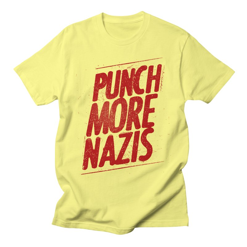 Punch more nazis Women's Regular Unisex T-Shirt by Propaganda Department