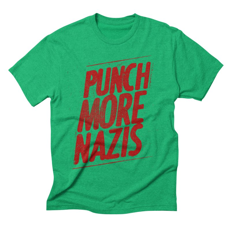 Punch more nazis Men's Triblend T-Shirt by Propaganda Department