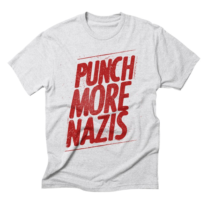 Punch more nazis Men's Triblend T-Shirt by Propaganda Department