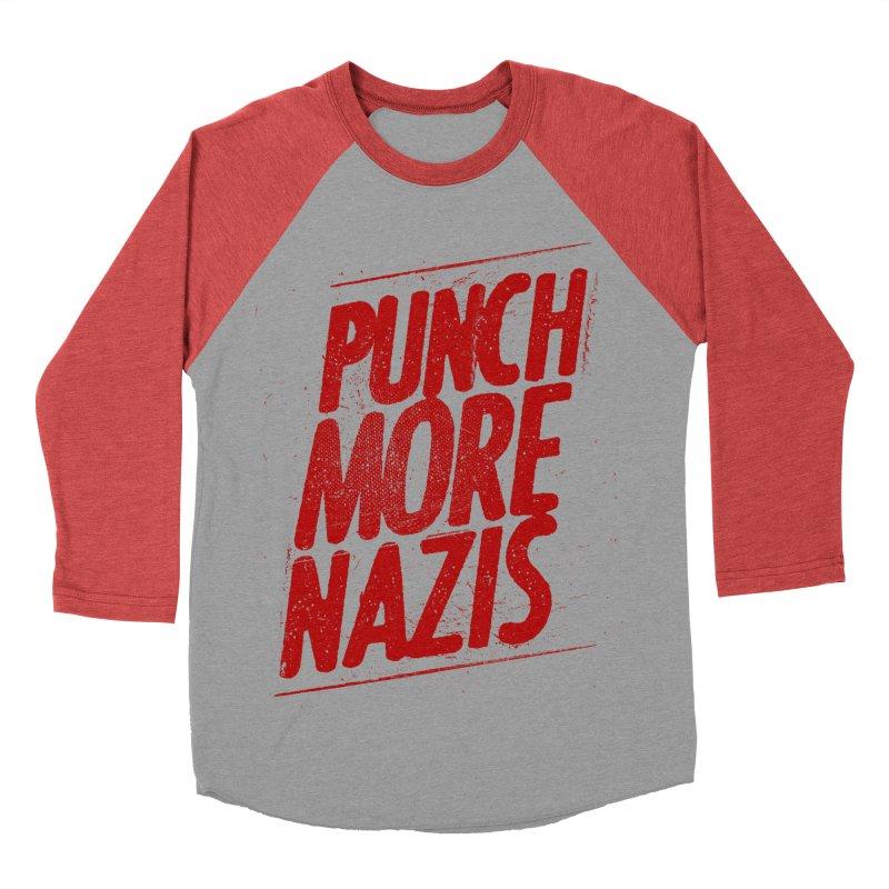 Punch more nazis Women's Baseball Triblend Longsleeve T-Shirt by Propaganda Department