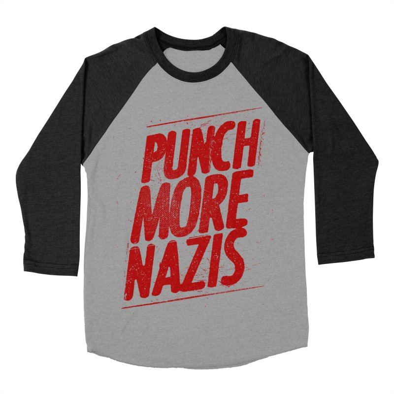 Punch more nazis Women's Baseball Triblend Longsleeve T-Shirt by Propaganda Department