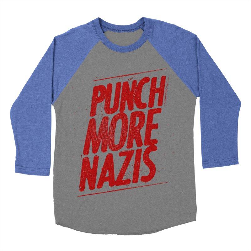 Punch more nazis Men's Baseball Triblend Longsleeve T-Shirt by Propaganda Department