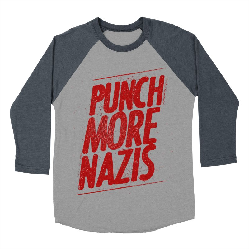 Punch more nazis Men's Baseball Triblend Longsleeve T-Shirt by Propaganda Department