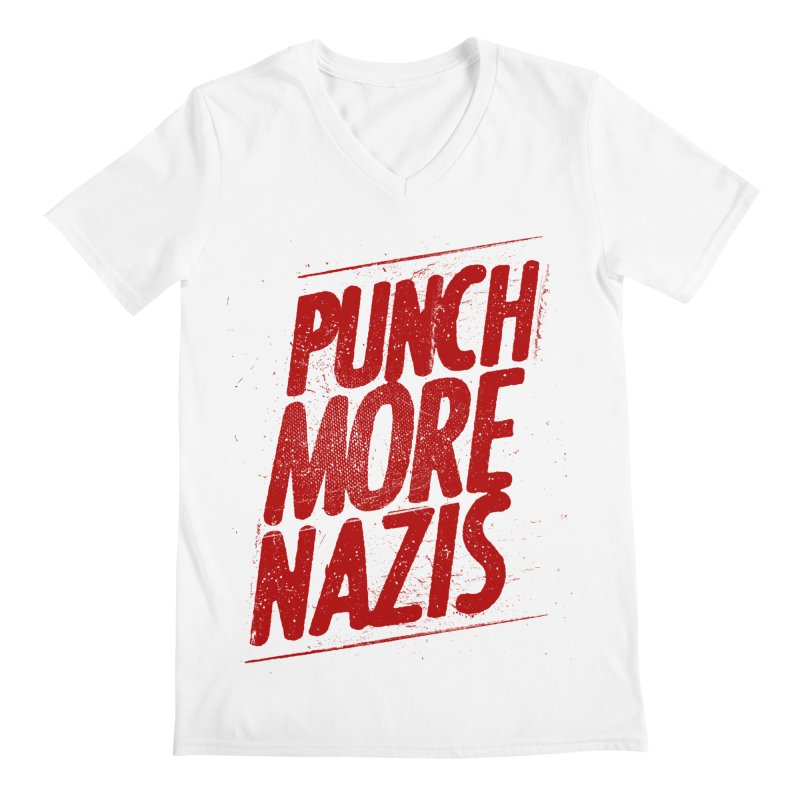 Punch more nazis Men's V-Neck by Propaganda Department