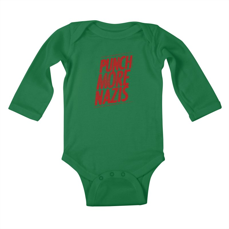Punch more nazis Kids Baby Longsleeve Bodysuit by Propaganda Department