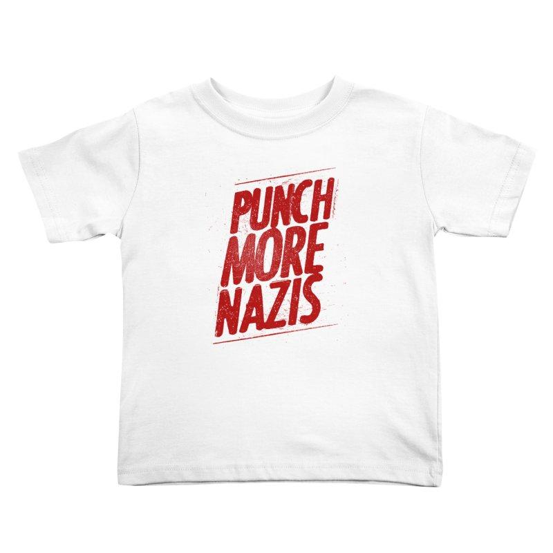 Punch more nazis Kids Toddler T-Shirt by Propaganda Department