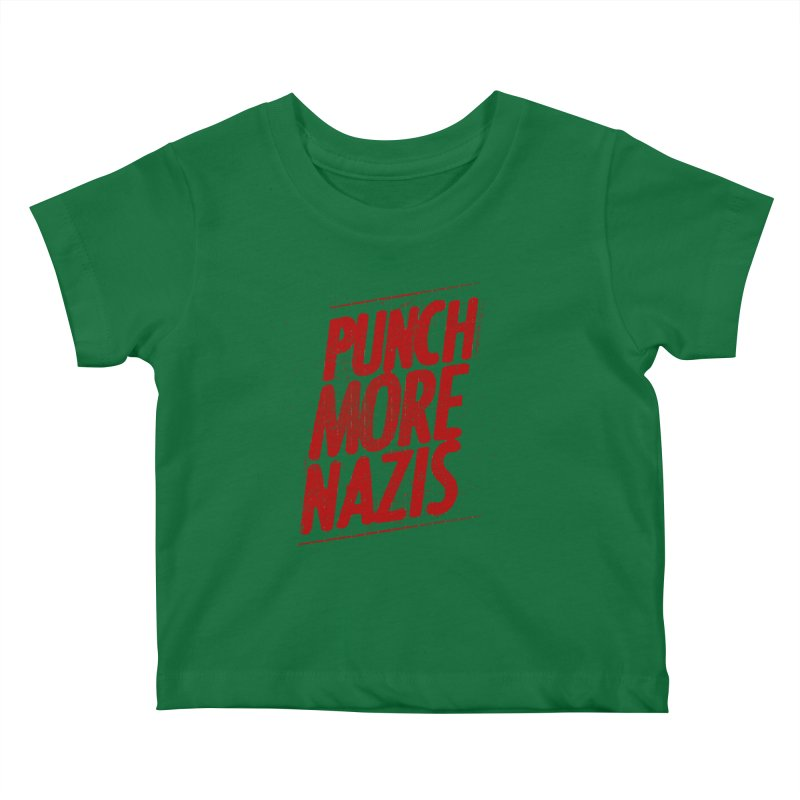 Punch more nazis Kids Baby T-Shirt by Propaganda Department