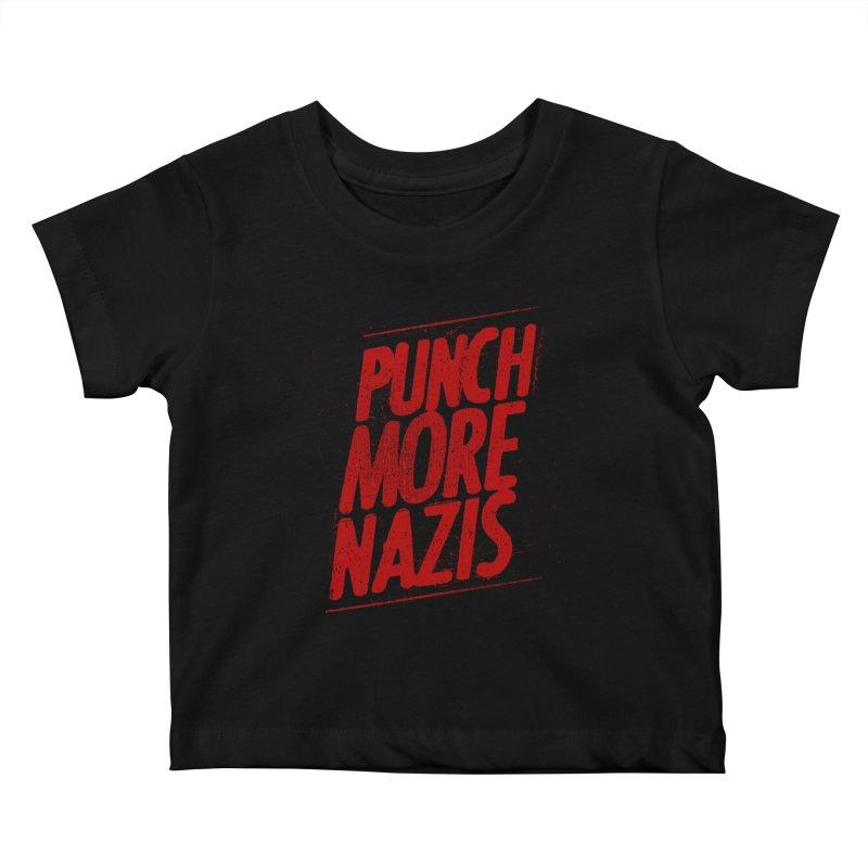 Punch more nazis Kids Baby T-Shirt by Propaganda Department