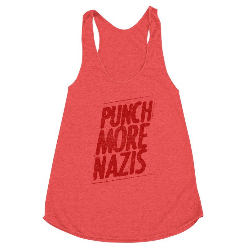 Punch more nazis Women's Tank by Propaganda Department