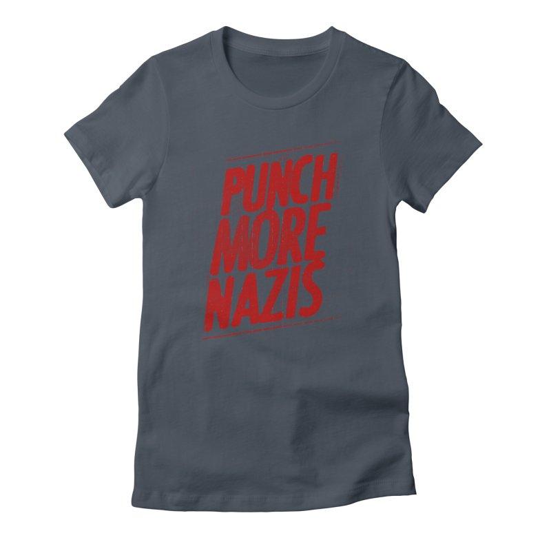 Punch more nazis Women's T-Shirt by Propaganda Department
