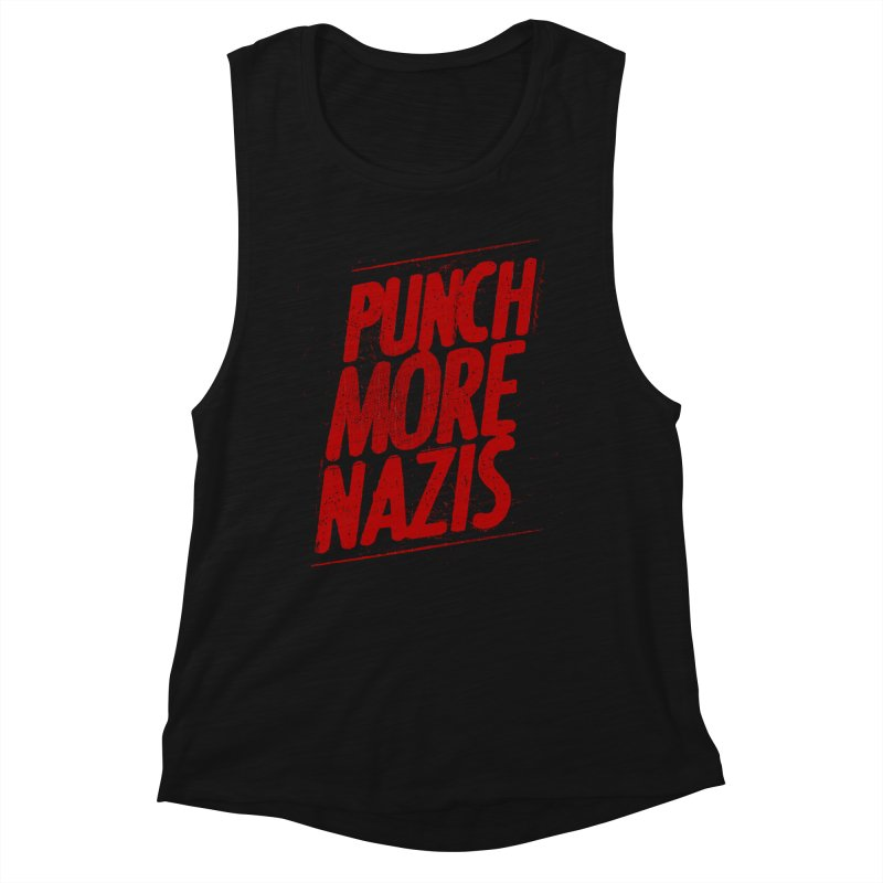 Punch more nazis Women's Tank by Propaganda Department