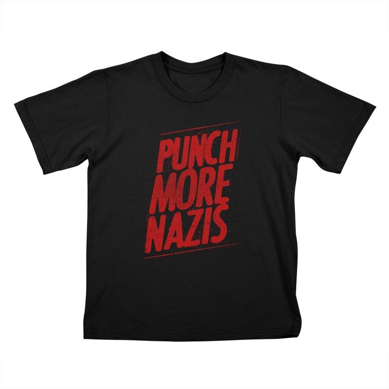 Punch more nazis Kids T-Shirt by Propaganda Department