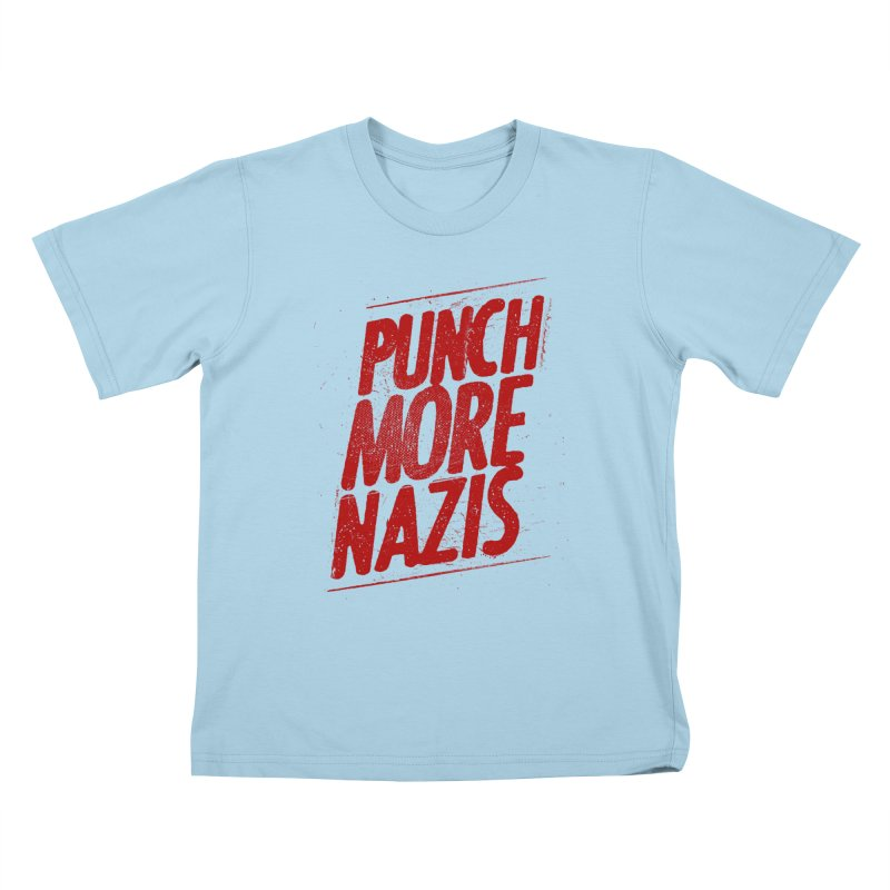 Punch more nazis Kids T-Shirt by Propaganda Department