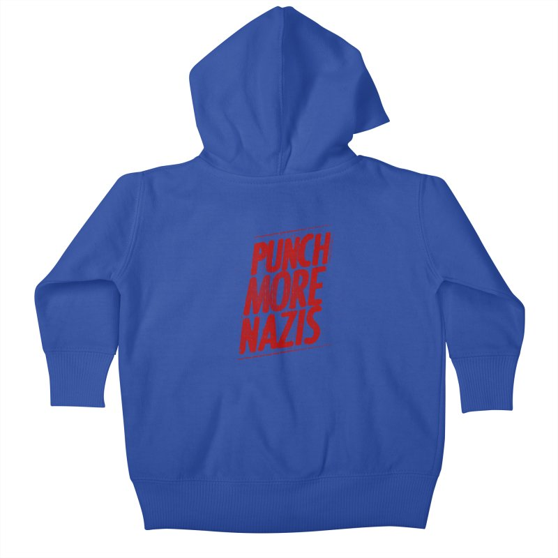 Punch more nazis Kids Baby Zip-Up Hoody by Propaganda Department