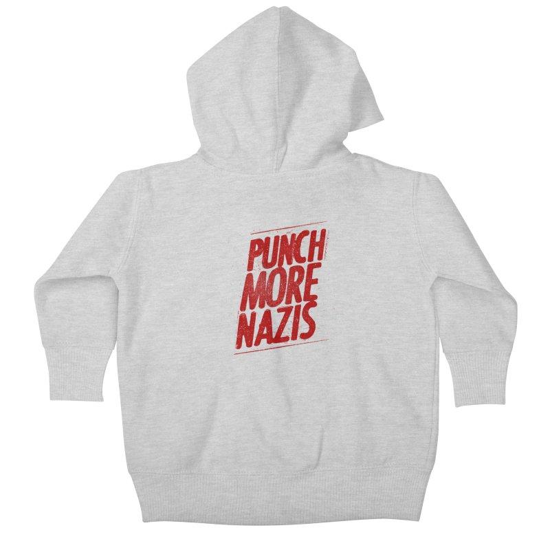 Punch more nazis Kids Baby Zip-Up Hoody by Propaganda Department
