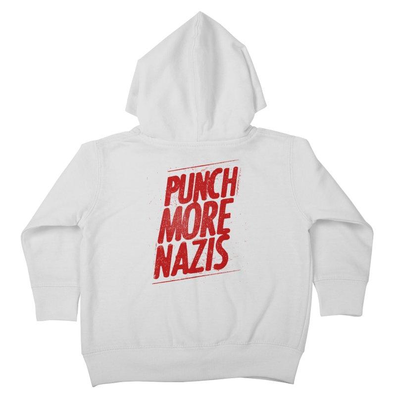 Punch more nazis Kids Toddler Zip-Up Hoody by Propaganda Department