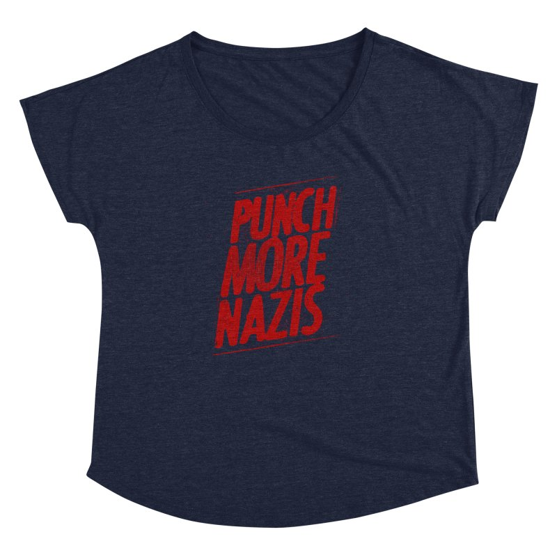Punch more nazis Women's Dolman Scoop Neck by Propaganda Department