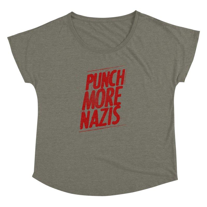Punch more nazis Women's Dolman Scoop Neck by Propaganda Department