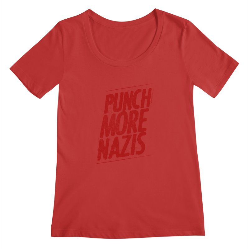 Punch more nazis Women's Regular Scoop Neck by Propaganda Department