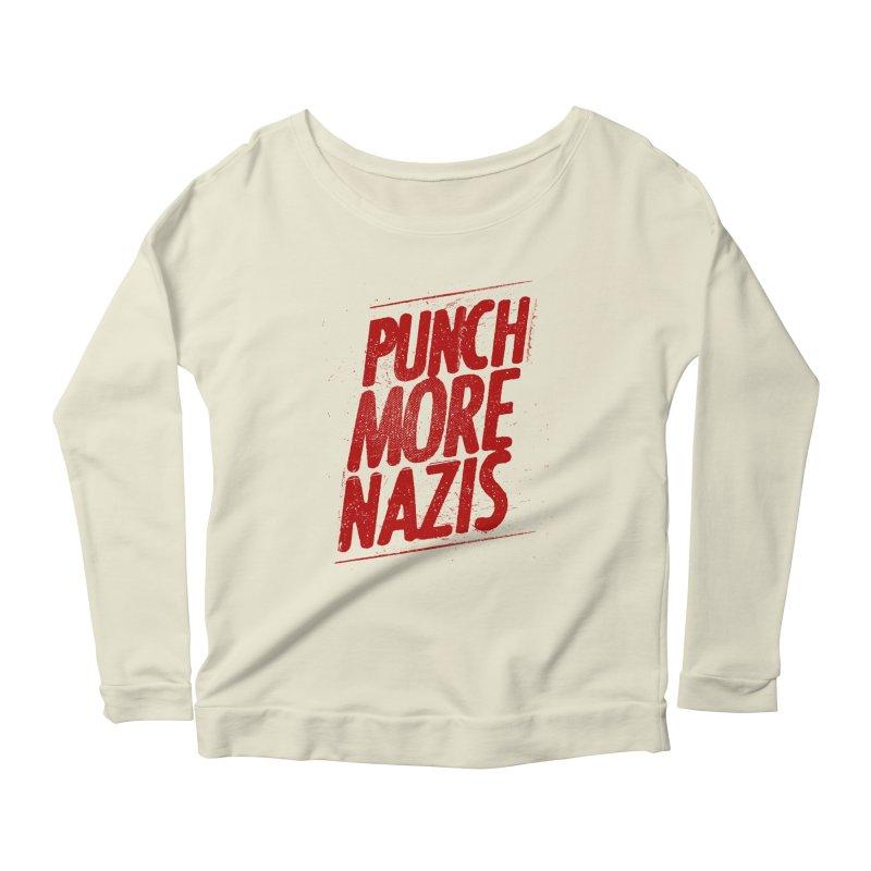 Punch more nazis Women's Scoop Neck Longsleeve T-Shirt by Propaganda Department