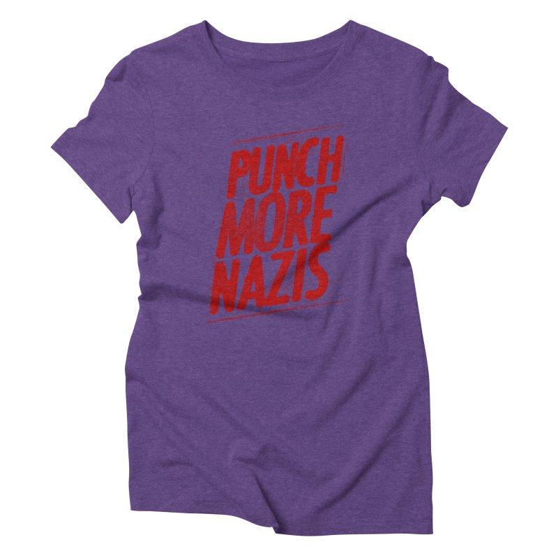 Punch more nazis Women's Triblend T-Shirt by Propaganda Department