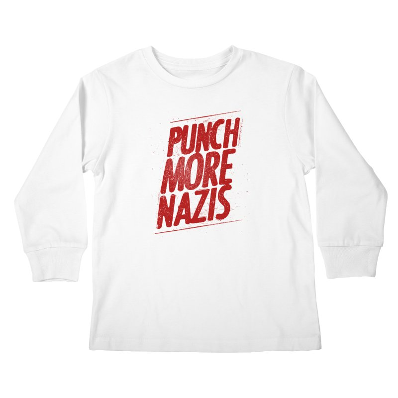 Punch more nazis Kids Longsleeve T-Shirt by Propaganda Department