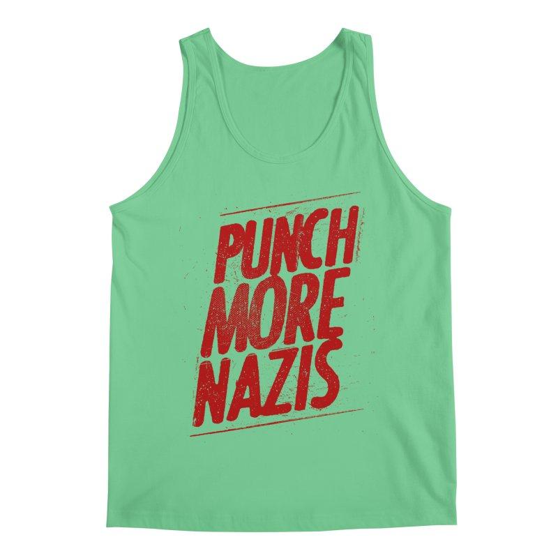 Punch more nazis Men's Regular Tank by Propaganda Department