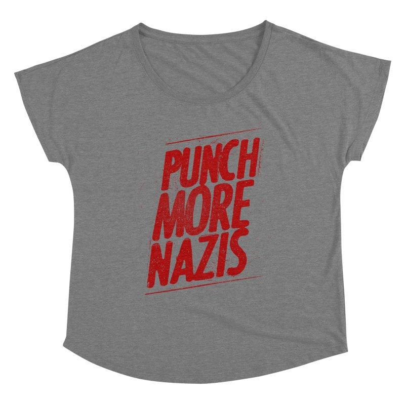 Punch more nazis Women's Scoop Neck by Propaganda Department