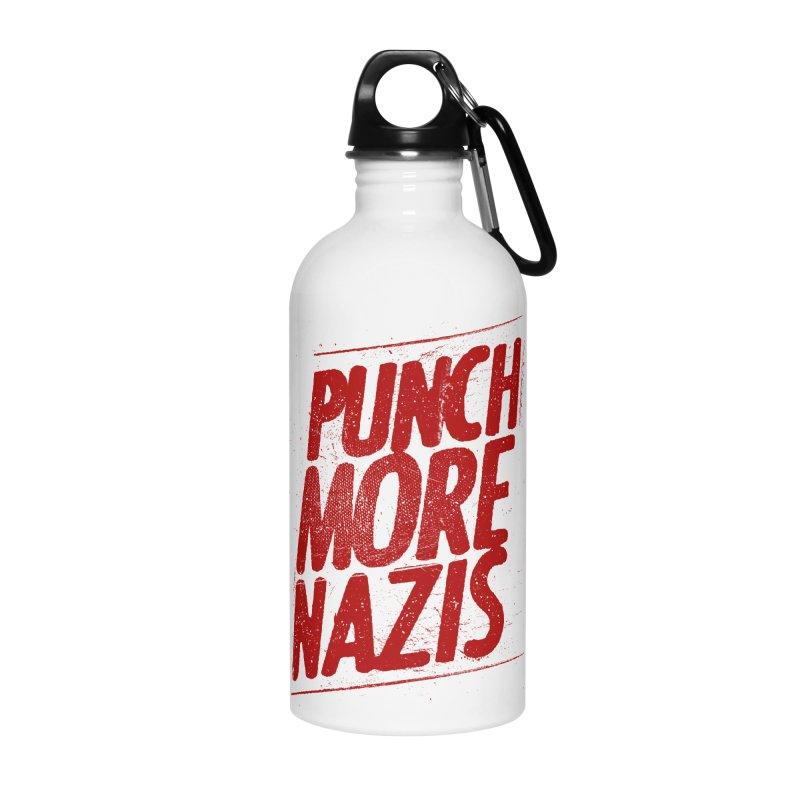 Punch more nazis Accessories Water Bottle by Propaganda Department