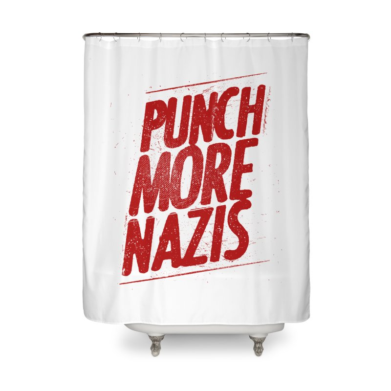 Punch more nazis Home Shower Curtain by Propaganda Department