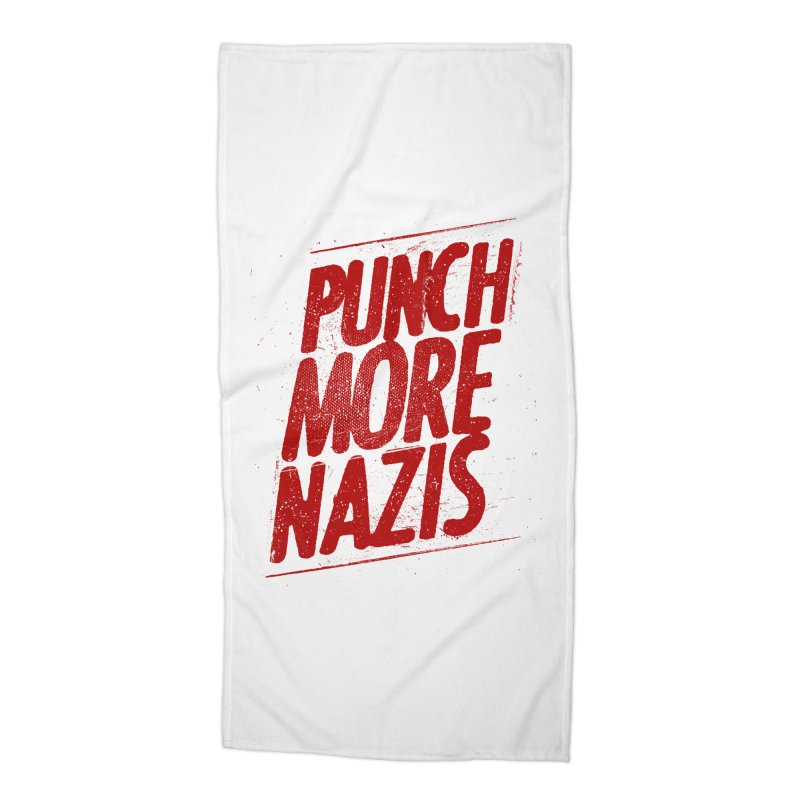Punch more nazis Accessories Beach Towel by Propaganda Department