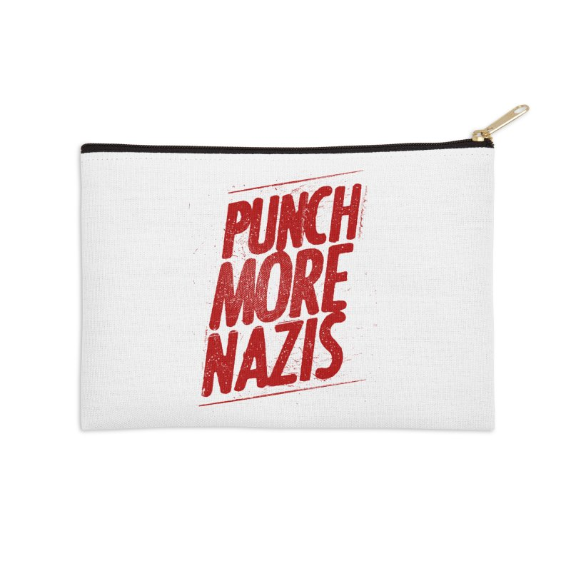 Punch more nazis Accessories Zip Pouch by Propaganda Department