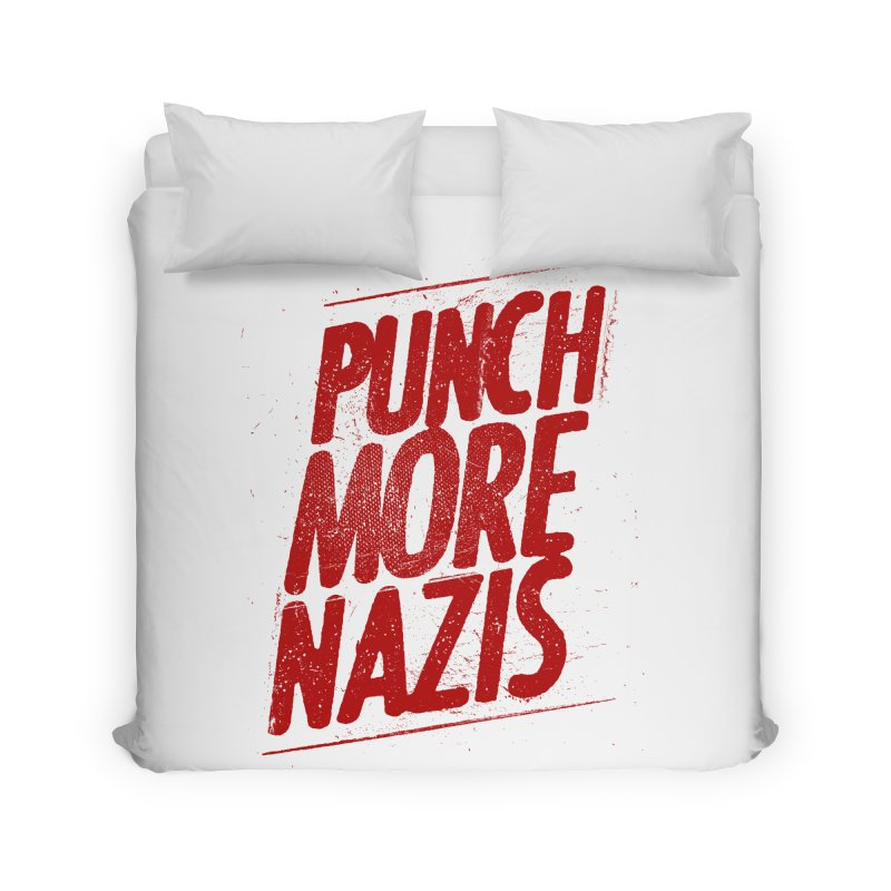 Punch more nazis Home Duvet by Propaganda Department