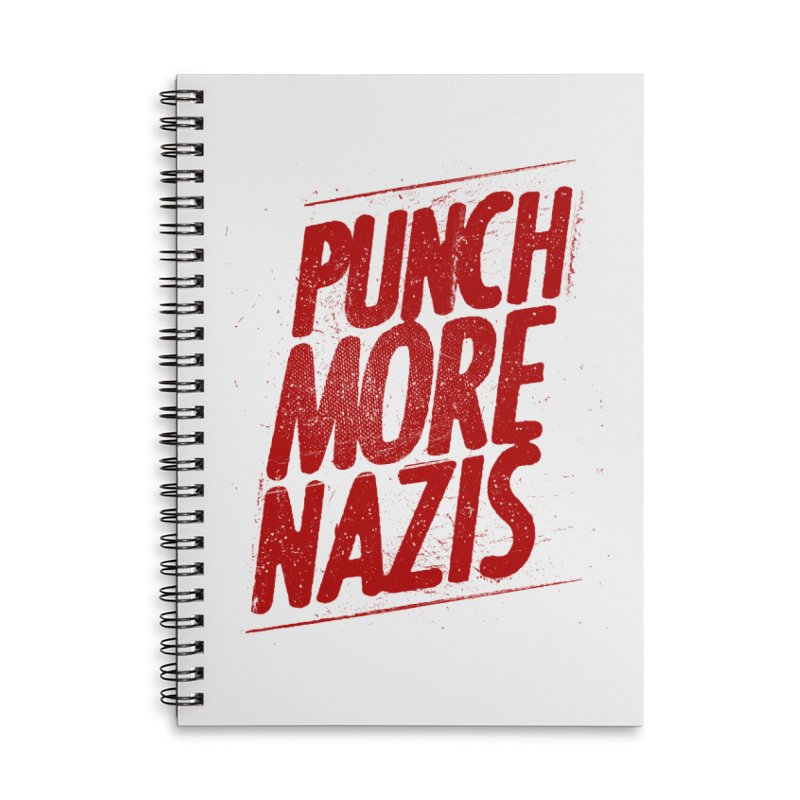 Punch more nazis Accessories Lined Spiral Notebook by Propaganda Department