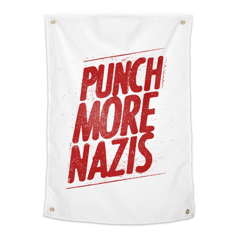 Punch more nazis Home Tapestry by Propaganda Department